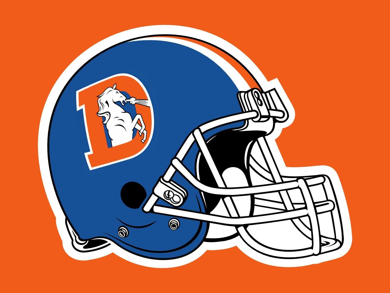 Denver Broncos Throwback Helmet.