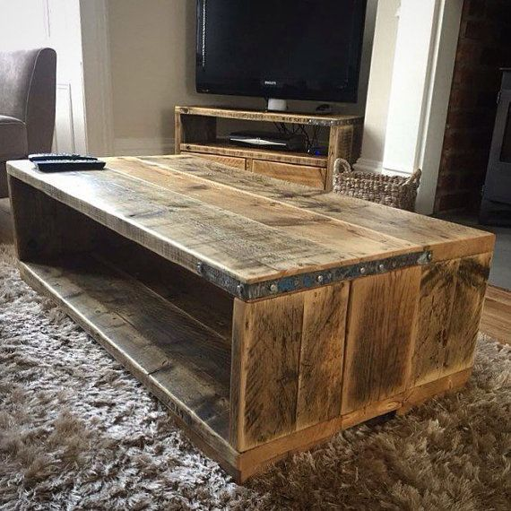 maribel reclaimed wood coffee table rustic table industrial scaffold board table. Black Bedroom Furniture Sets. Home Design Ideas