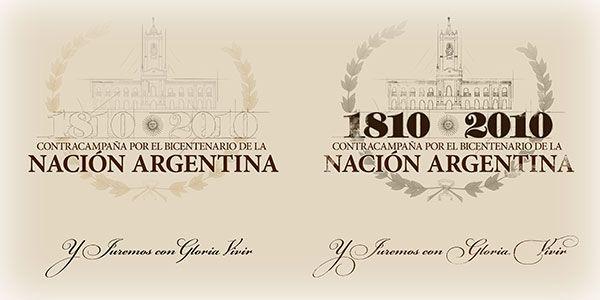 Contracampaña por Bicentenario de la Nación Argentina by Pablo Zarate, via Behance