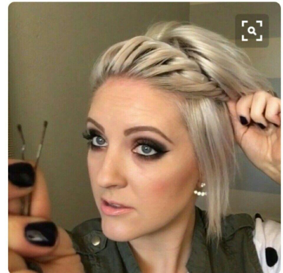 Cute Braid Hair Styles Really Short Hair Short Hair Styles