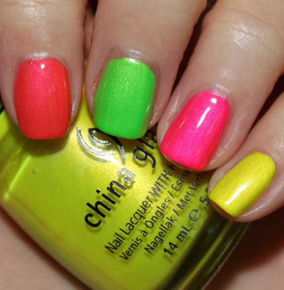 China Glaze Summer Neons Swatches & Review | Nails | Pinterest