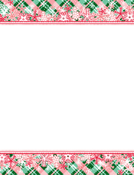 Peppermint Snowflake Christmas Letterhead X Pk
