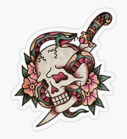 'Salty-Dog American Traditional Tattoo Motif' Sticker by salty-dog