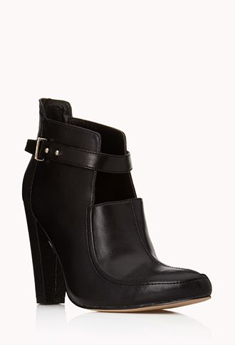 Standout Faux Leather Booties | FOREVER21 - 2000051023