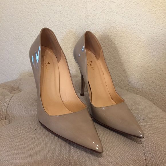 a7b712583b33 HP Kate Spade licorice too beige patent pumps Kate Spade New York Licorice  Too pointed toe pumps in beige patent. Full leather with leather soles.