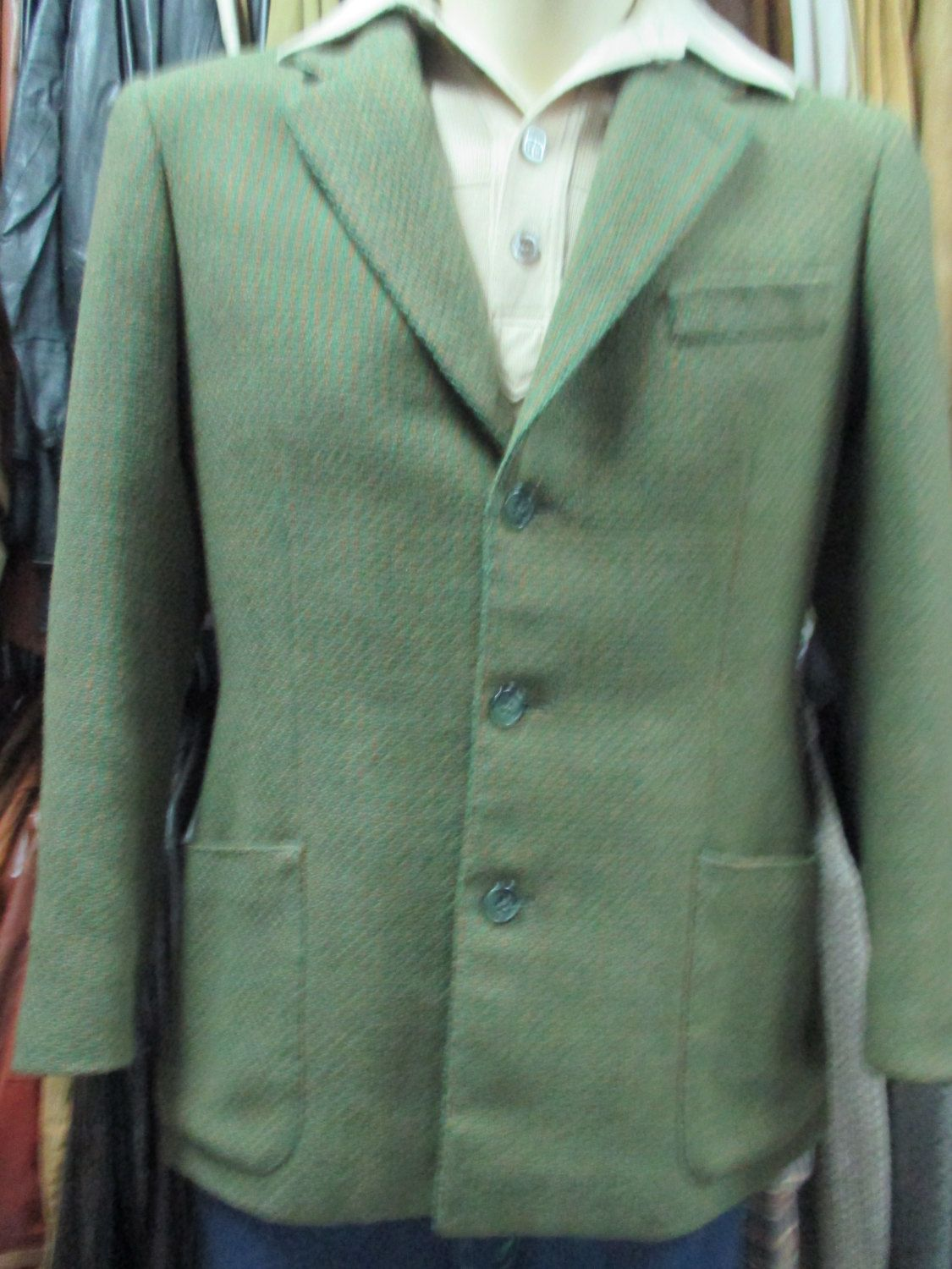 best loved 11419 9a57c Giacca verde uomo anni 60/70.Tg.M/Fantastic 60s olive green ...