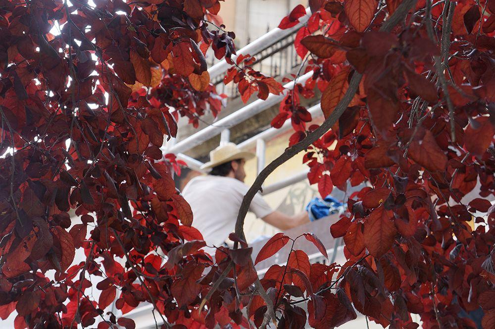 """Alto trabajando en el Proyecto """"Muros"""".#ArteTabacalera Promoción del Arte #ArteUrbano #StreetArt Madrid.Día4 #Arterecord 2014 https://twitter.com/arterecord"""