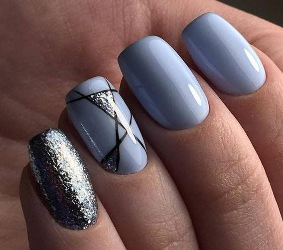 50 Geometric nail art designs for 2019 - Styles Art | Christmas ...