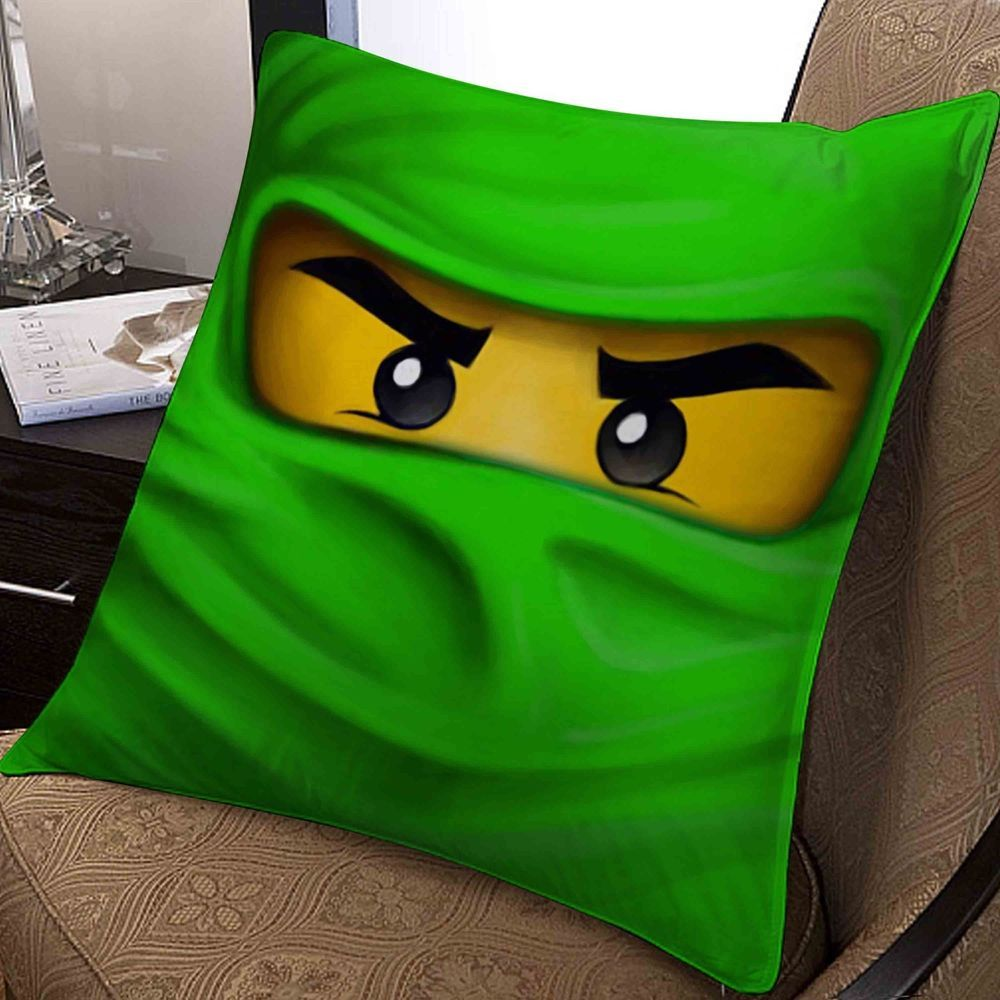 green ninjago lego anime pillow case two side 20x20 inches  Chambre