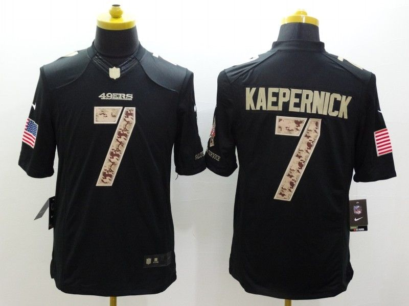 272f4985f Cheap Wholesale Mens San Francisco 49ers  7 Colin Kaepernick Nike Black  Salute To Service Jersey Size S-XXL stock.Contact US If need purchase.