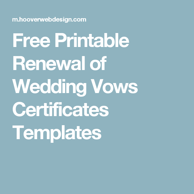 Free printable renewal of wedding vows certificates templates free printable renewal of wedding vows certificates templates yadclub Gallery