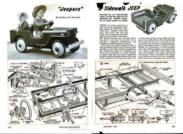 Jeep pedal car plans click to download the complete PDF file ...