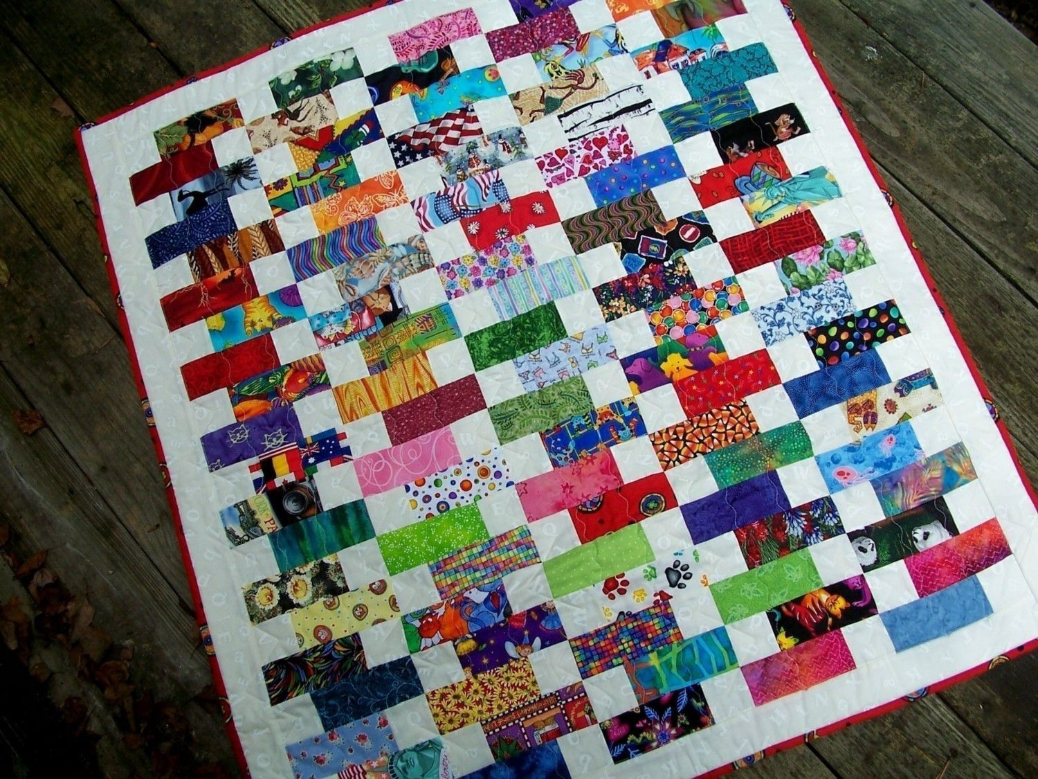 BABY BRICKS Quilt Pattern Charm Pack and Jelly Roll Friendly Colorful and Fun Quilt for Children ...
