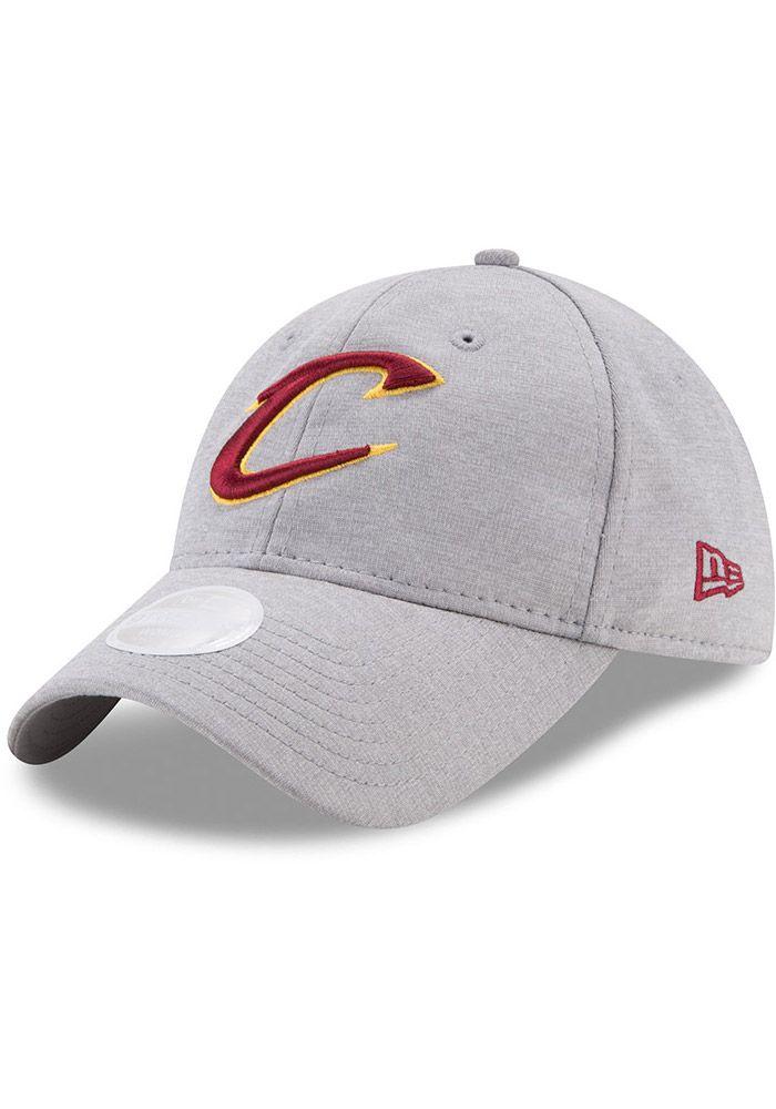 outlet store 29ecd d1fa5 New Era Cleveland Cavaliers Grey Sporty Sleek 9TWENTY Womens Adjustable Hat,  Grey, POLYESTER, Size ADJ