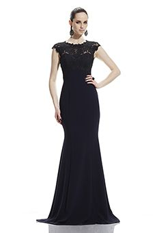 Theia Lace Bodice Mother of the Bride Dress   Mother of the Bride Dress