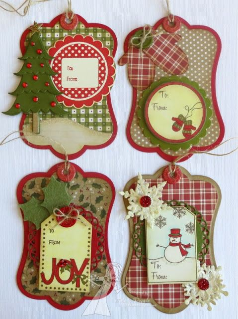 Too, too cute Christmas tags, A Paper Melody: Taylored Expressions ...