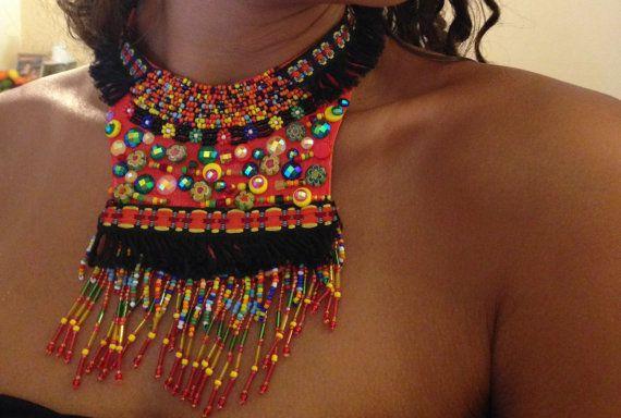 Bohemian fashion statement trendy gypsy embroidery by Diomios, $350.00