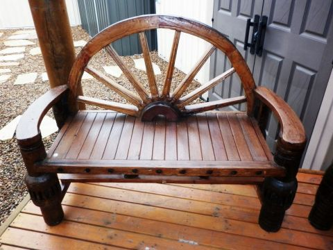 Outdoor Furniture Wagon Wheel Bench Melbourne Sydney