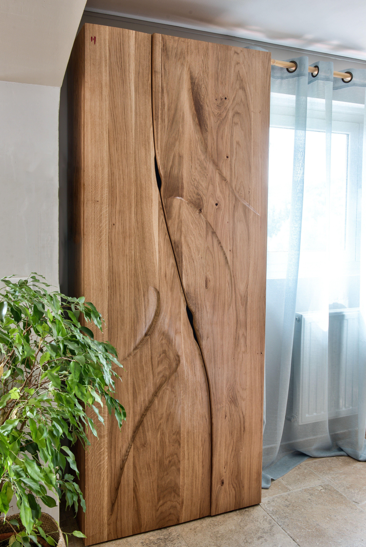Armoire Contemporaine Design Sculptee En Bois Massif By French Designer Markus Furniture Mobilier De Luxe Mobilier De Salon Mobilier