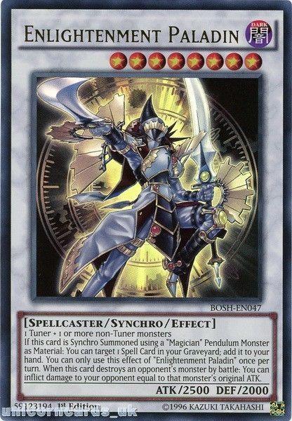 BOSH-EN047 Enlightenment Paladin Ultra Rare 1st edition Mint YuGiOh Card | Cards, Paladin, Card art
