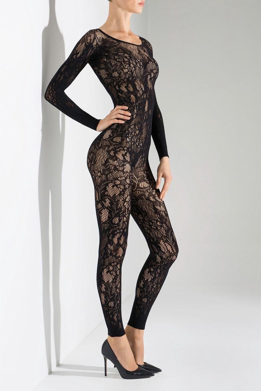 dd586ca5ab69 Natori Floral Romance Long Sleeve  catsuit Style Ntf7-8271 - Black M ...