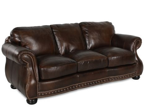 Vplw 8755 30 Cowboy Usa Leather Sofa Mathis Brothers Furniture