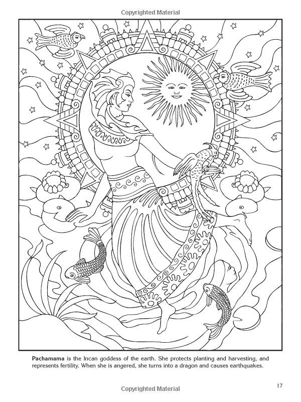 Goddesses Coloring Book Dover By Marty Noble