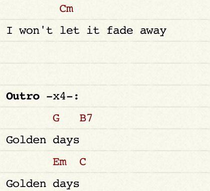 Golden Days Panic At The Disco Ukulele Chords Part 8
