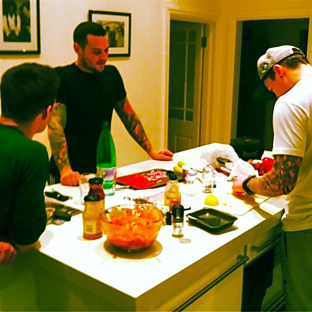 "#jamesfutureboybourne ""Mcmasterchef going on in my kitchen"" #McBustedWritingTripFeb2014"