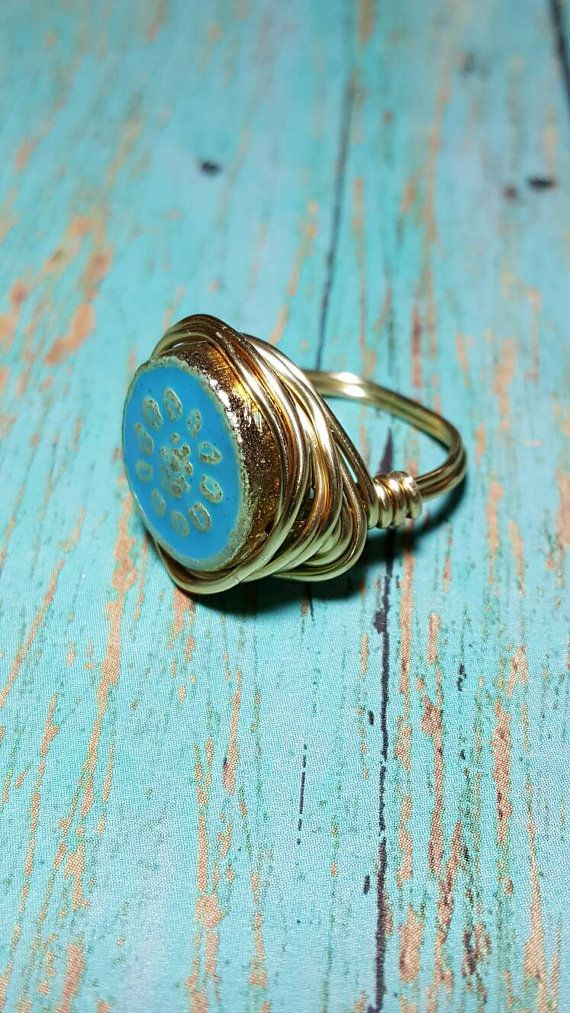 Aqua Wire Wrapped Ring. Wire Wrapped Rings. Wire Wrapped. Check out ...