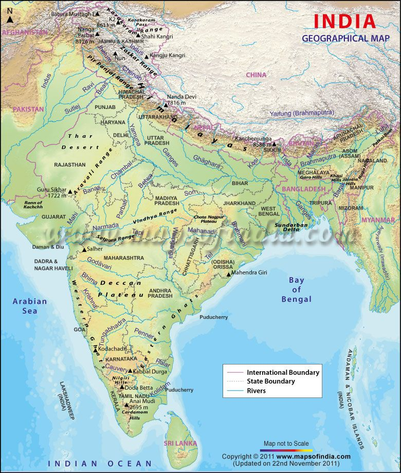 India Map Geographical India Geographical Map | India Maps | India map, Geography map