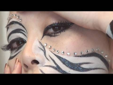 Halloween Makeup For A Zebra Fasching Schminken Frisuren