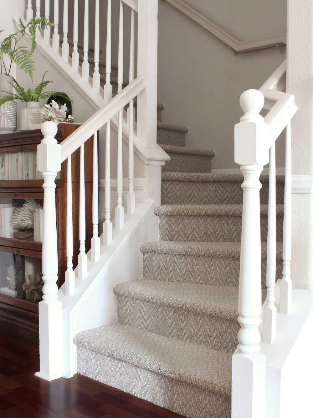 Herringbone Carpet In 2020 Patterned Stair Carpet New Carpet Carpet Stairs