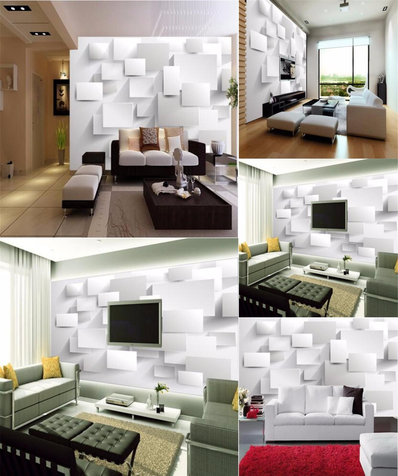 Visit To Buy Beibehang Embossed Cubic Abstract 3D Wallpapers