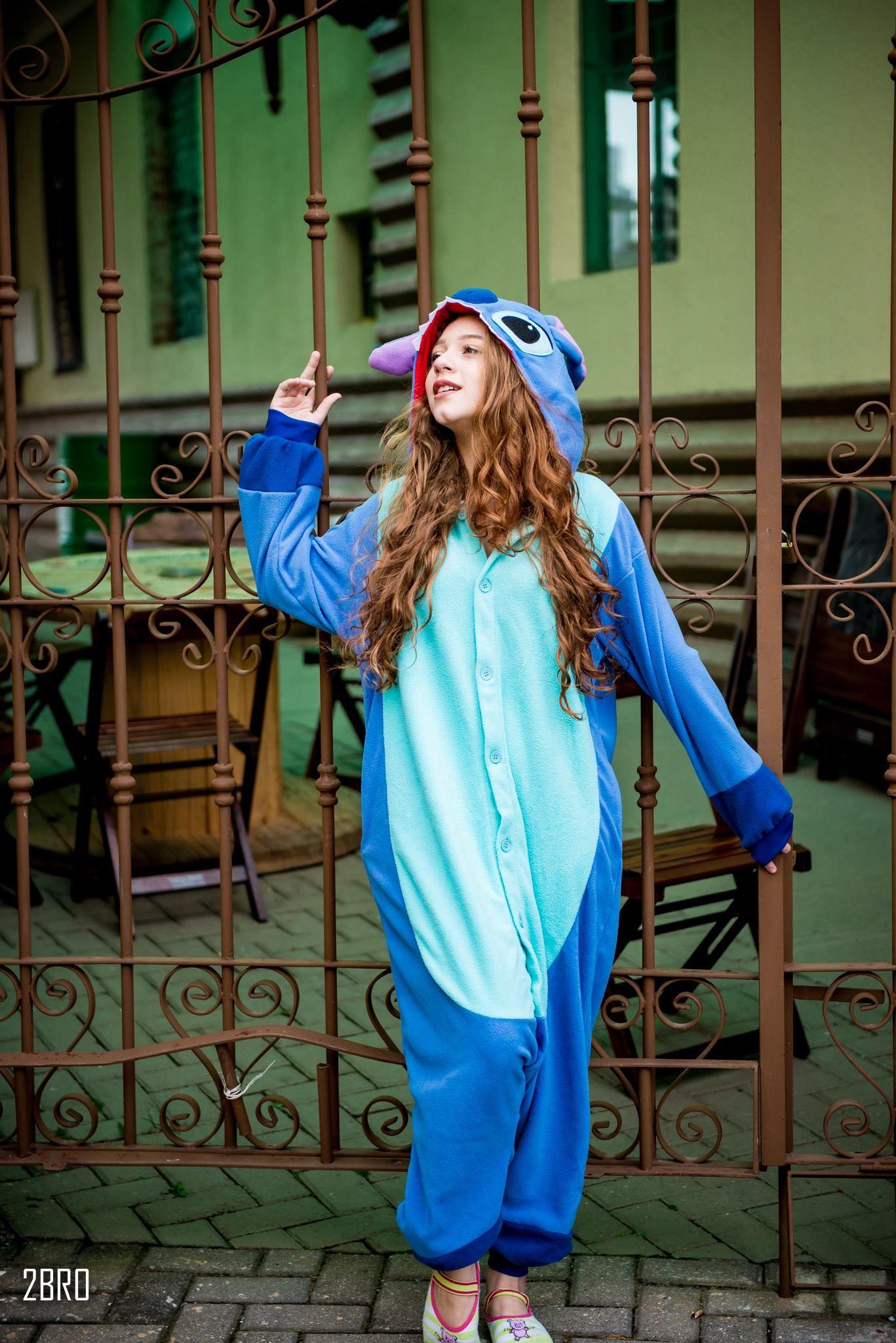 Tumblr Girl Ensaio Teen Stitch Lilo Pijama  Tumblr -1964