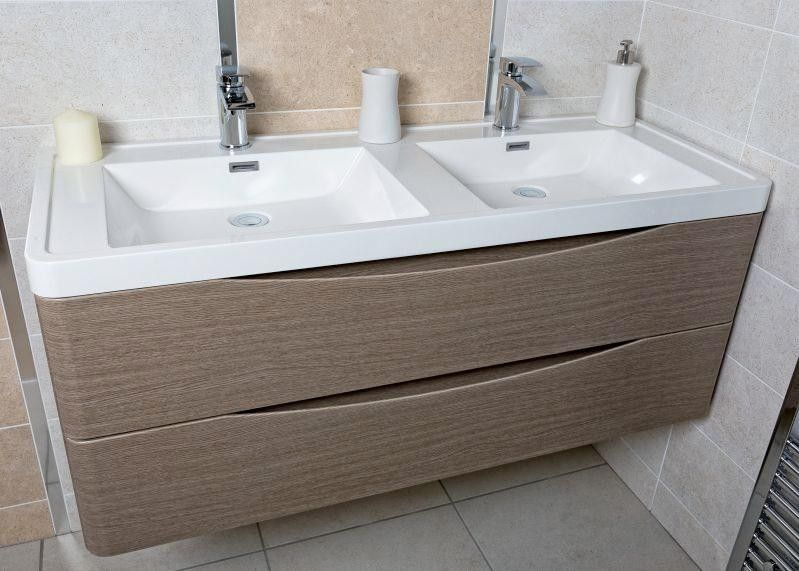 Motiv 1200 Wall Mounted Double Basin Vanity Unit