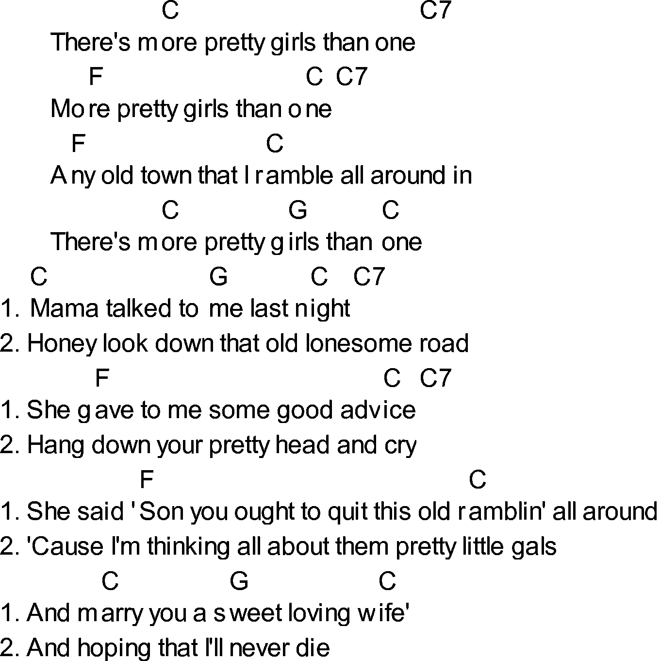 Old songs about girls