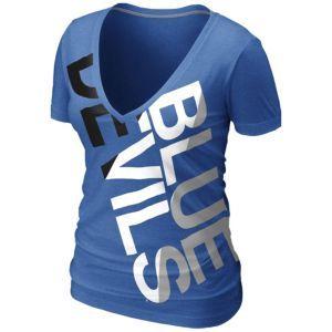 d92e0501b40d Nike College Deep V Blended T-Shirt - Women s - Duke Blue Devils - Royal