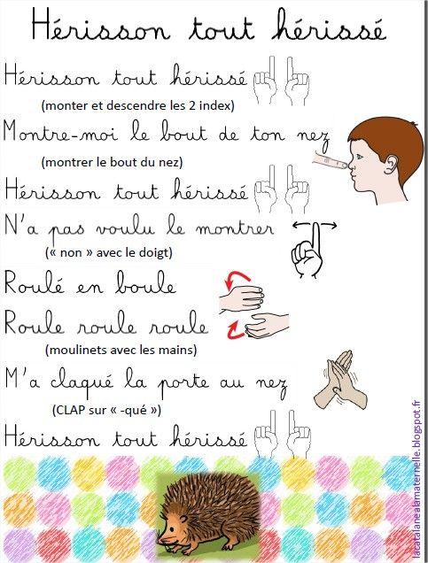Hérisson Tout Hérissé Version Lacatalane Comptines
