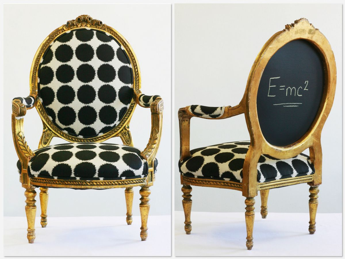 Whimsical chair redesign! From Wild Chairy in House of Fifty mag