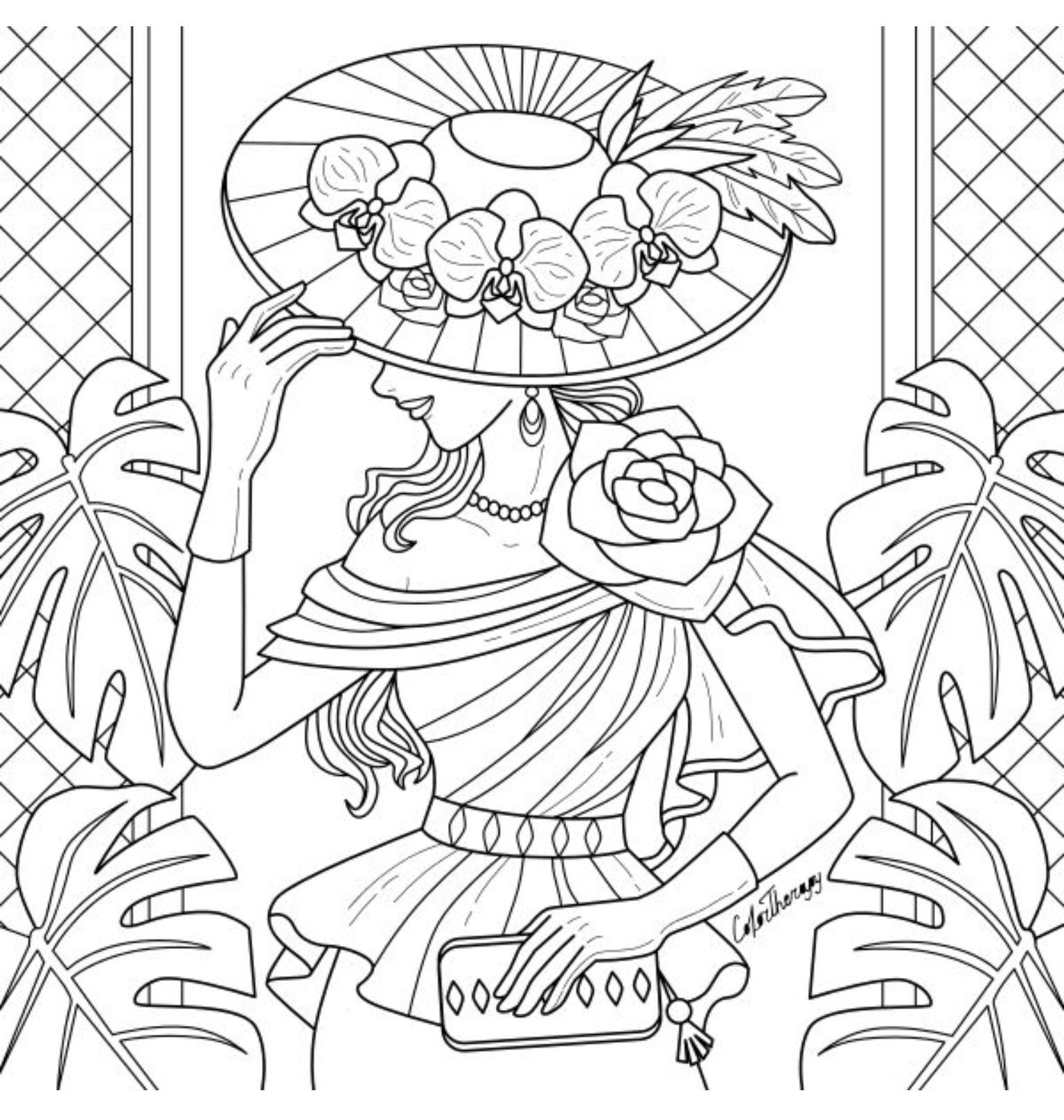 Free Hawaiian Coloring Pages by Coco Moon Hawaii | 1617x1536