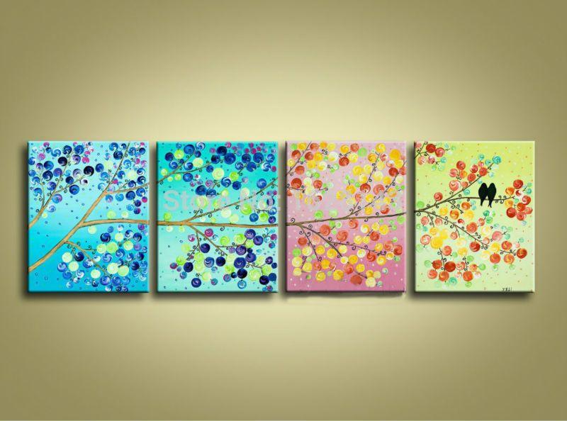 Cuadros abstractos coloridos con espatula pajaros buscar for Imagenes de cuadros abstractos faciles de hacer