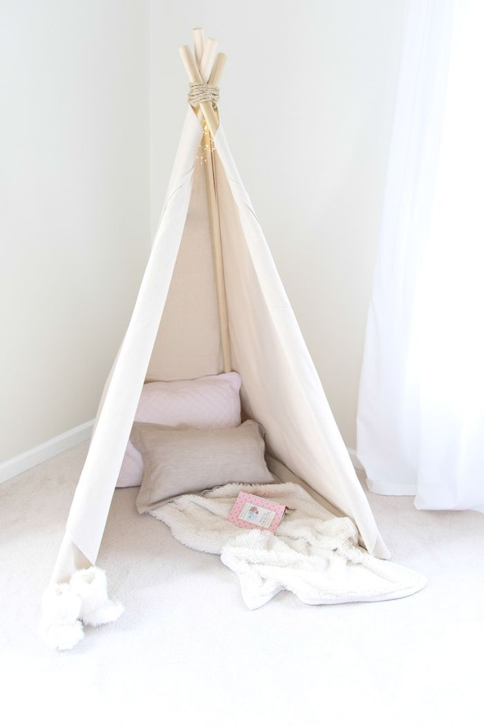1 hour easy no sew teepee tutorial. Get the easy DIY details of this ...