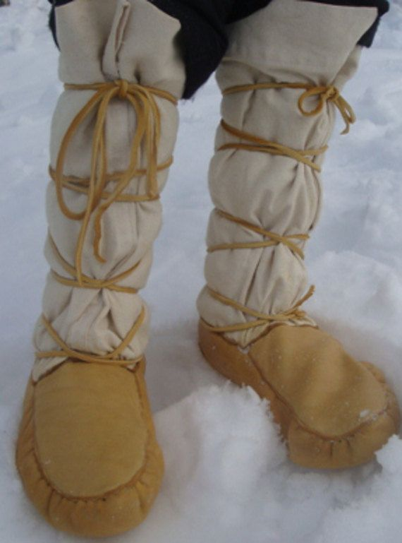 Canvas top Mukluks by MuckyMocs on Etsy | Fashion | Tops
