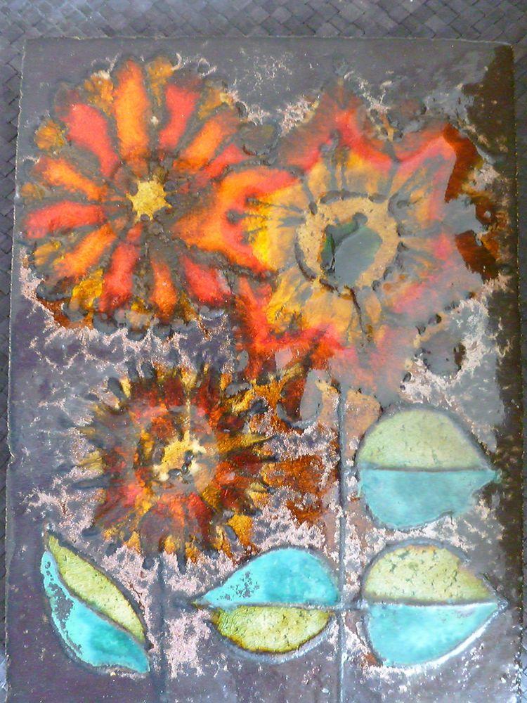Keramik Wandbild künstlerische Arbeit handgemacht