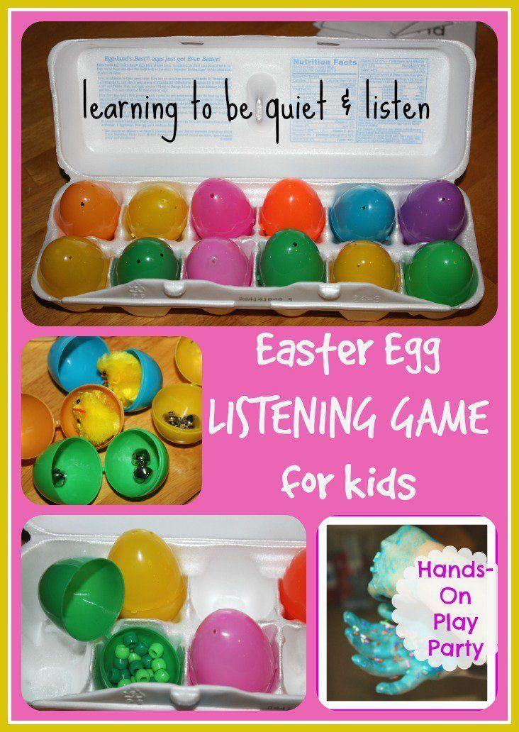 Easter Egg Listening Game Easter Egg Listening Game