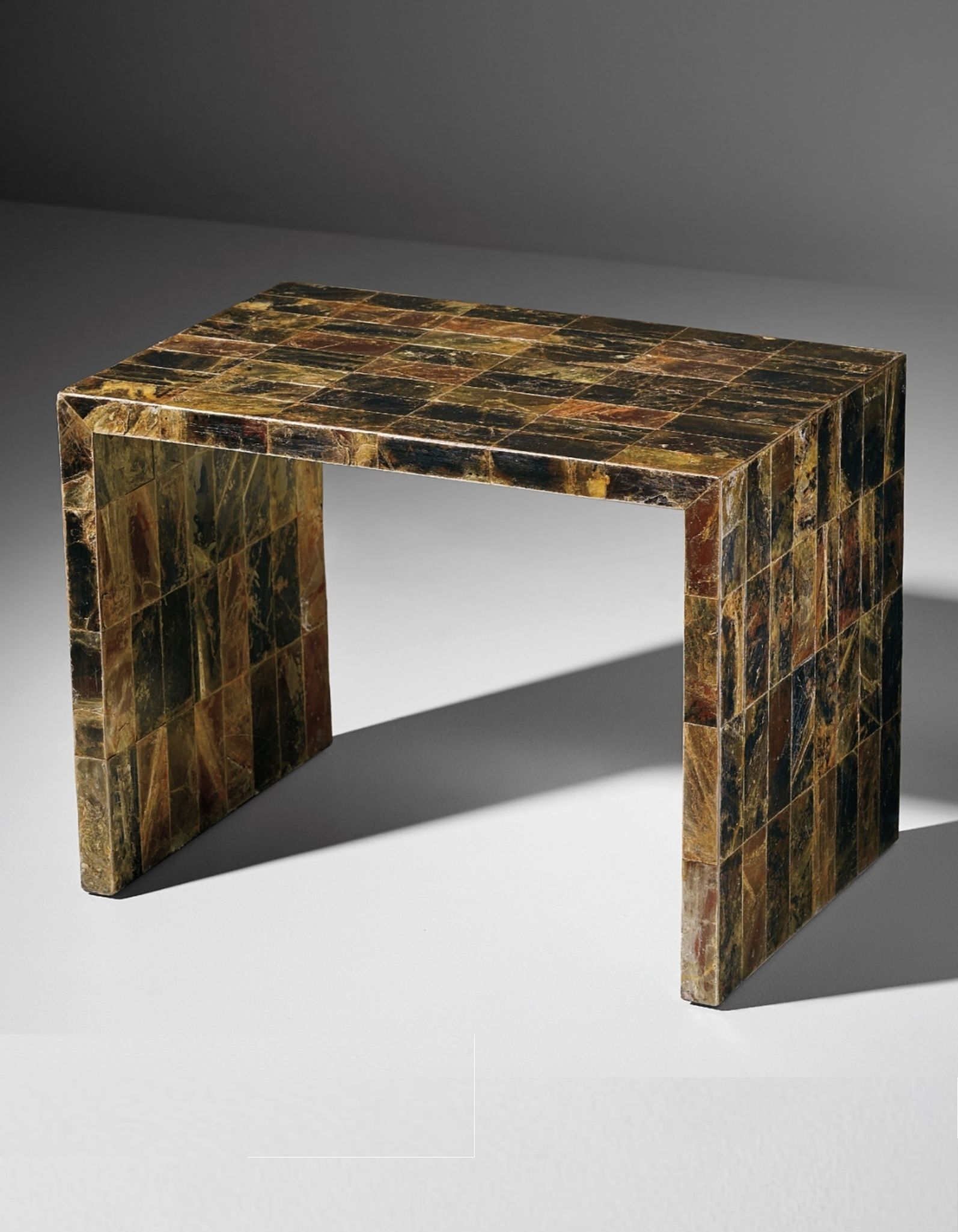 Jean Michel Frank Side Table Mica Art Deco Console Table Leather Coffee Table French Art Deco Furniture [ 2050 x 1594 Pixel ]
