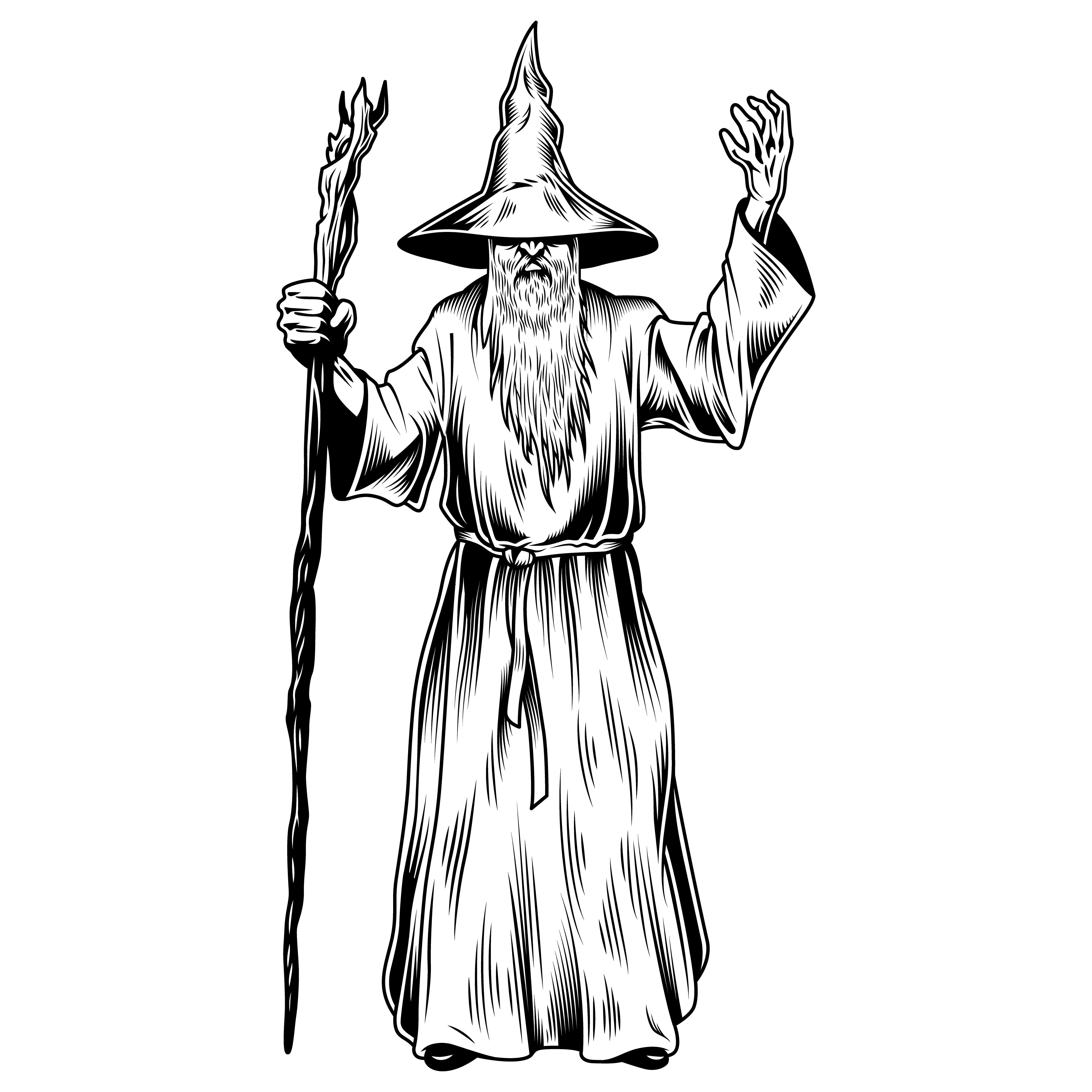 Wizard Illustration In 2020 Fantasy Wizard Vector Images Vector Artwork Save even more with our subscription plans. pinterest