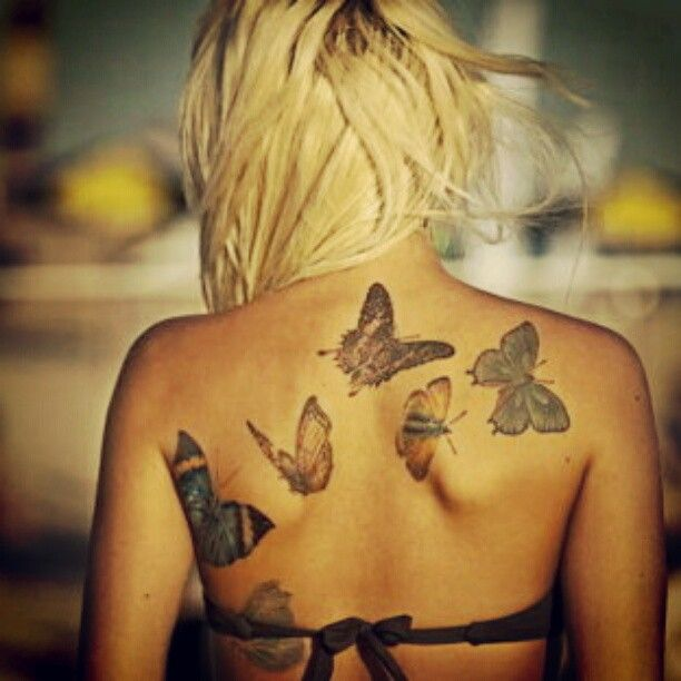 #tattoo #butterfly #blonde #summer - @Schrödinger's Jedi- #webstagram