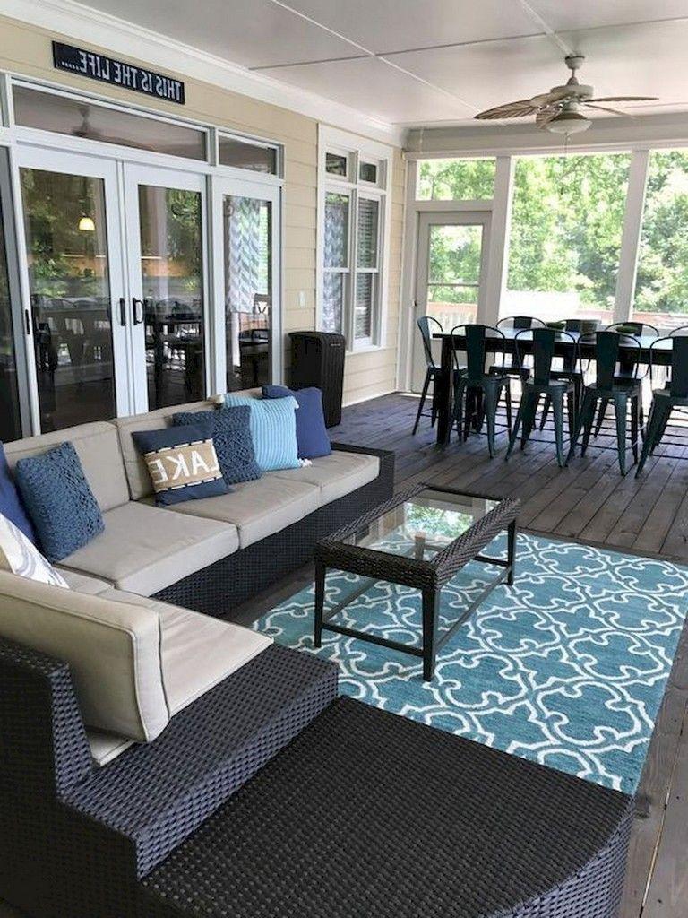 58+ Comfy Farmhouse Sunroom Makeover Decor Ideas Porch